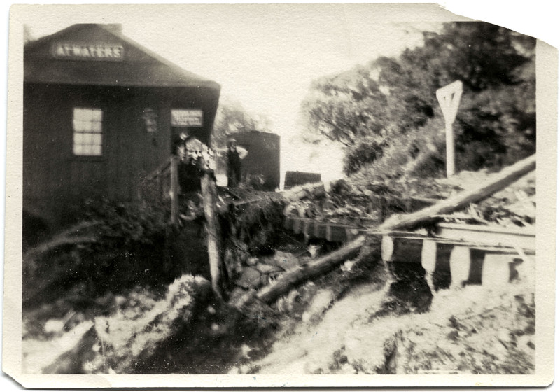 Atwaters railroad station after the flood. (Photo ID: 48944)