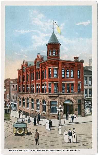 New Cayuga Co. Savings Bank Building, Auburn, NY. (Photo ID: 46754)