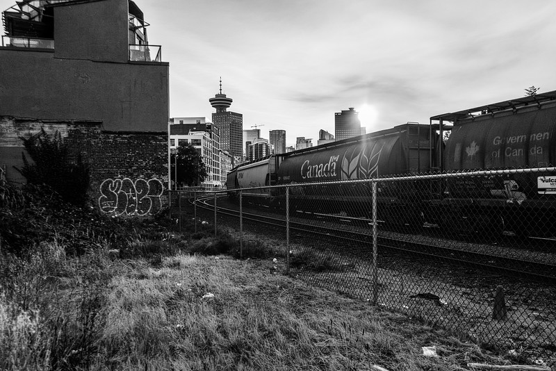 Train and Vancouver Skyline