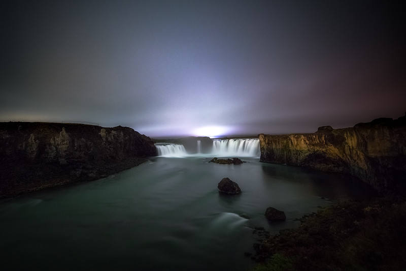 Goðafoss on a Cloudy Night