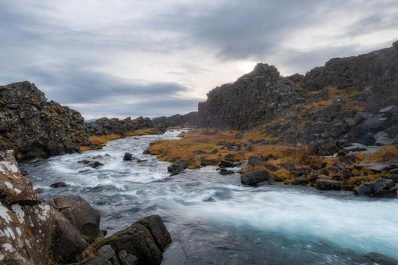 River through Þingvellir