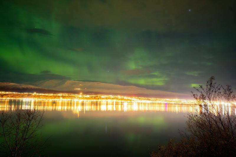 Aurora over Akureyri