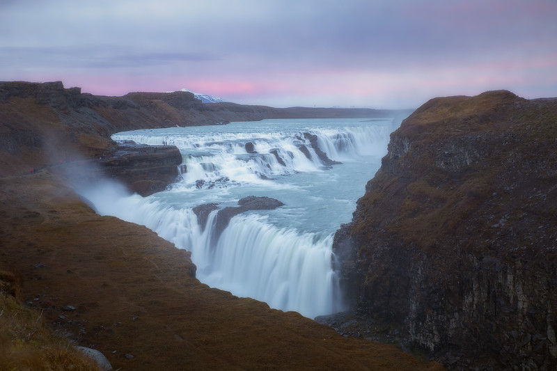 Sunset at Gullfoss