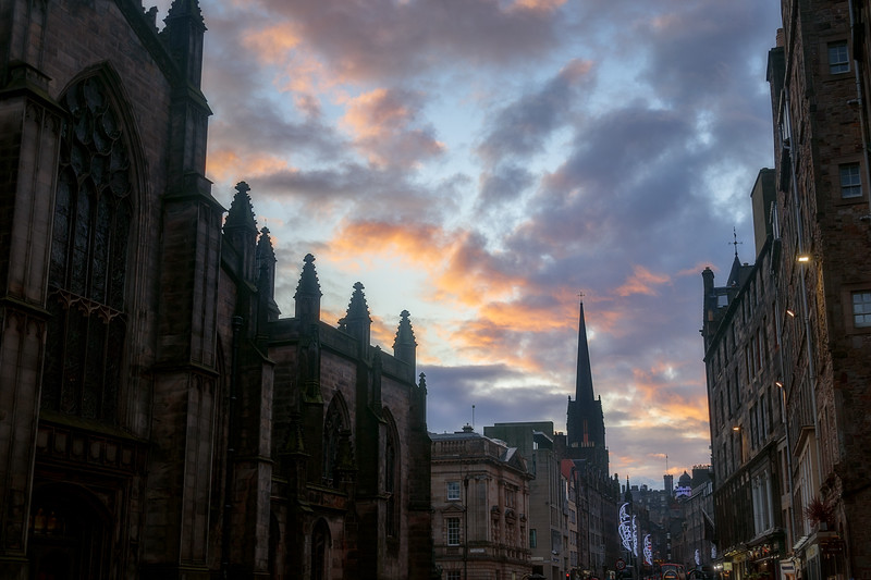 Royal Mile at Sunset