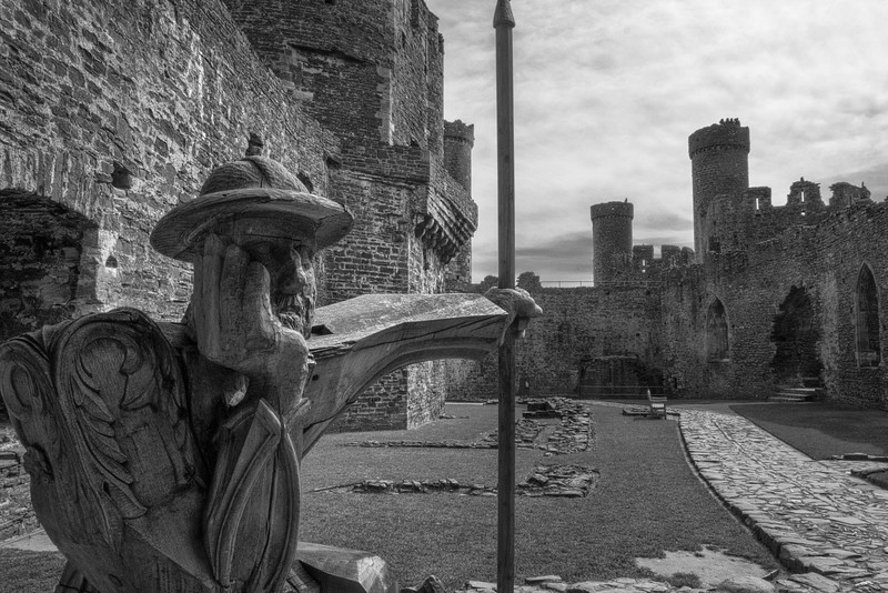 The Guard at Conwy Castle