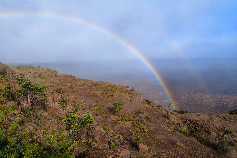 Rainbow at Kilauea