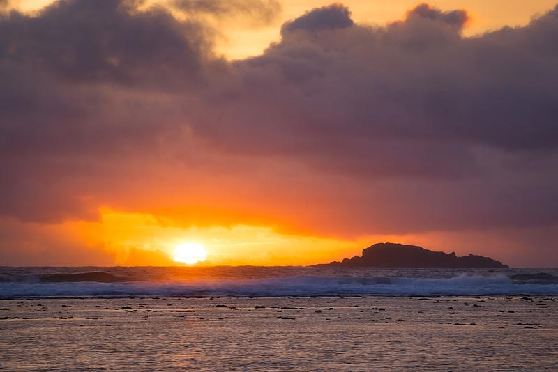Sun Rising on the North Shore of Kauai