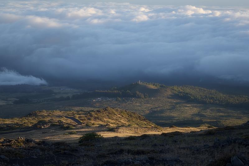 Sun Shining on the Slopes of Haleakala