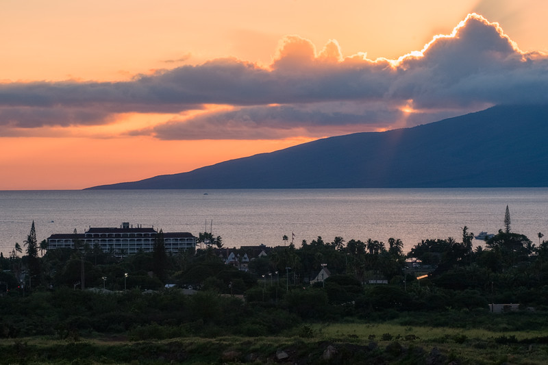 Sunset over Lahaina