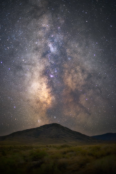 Goshute Peak Under the Milky Way
