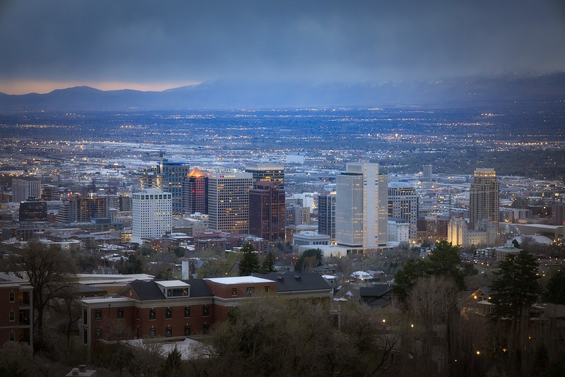 Downtown SLC at Twilight