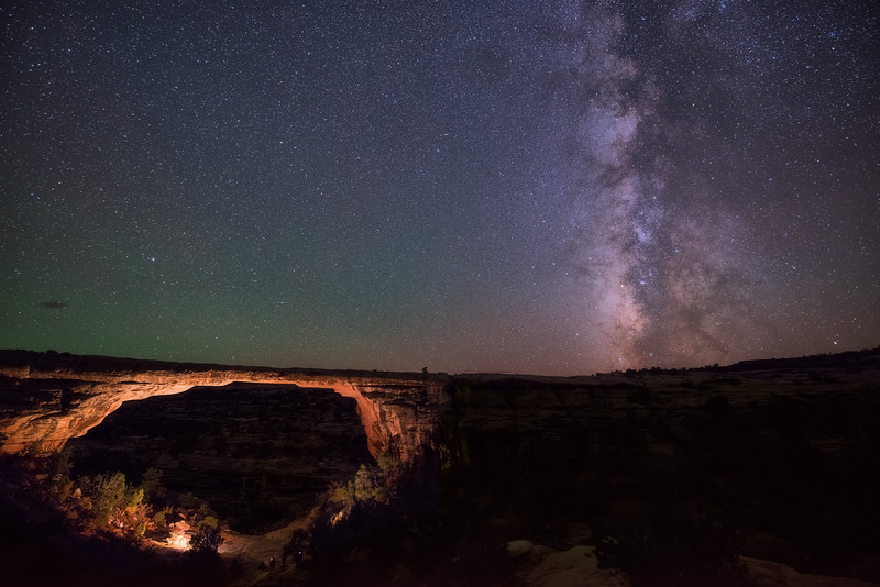 Milky Way and Owachomo Bridge