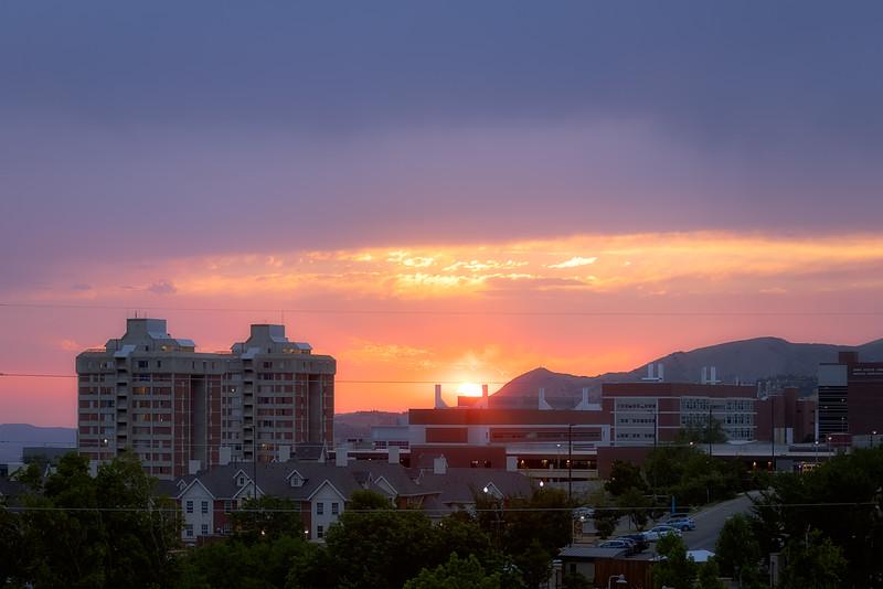 Sunset at the U