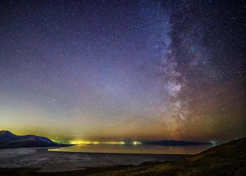 Milky Way and Great Salt Lake