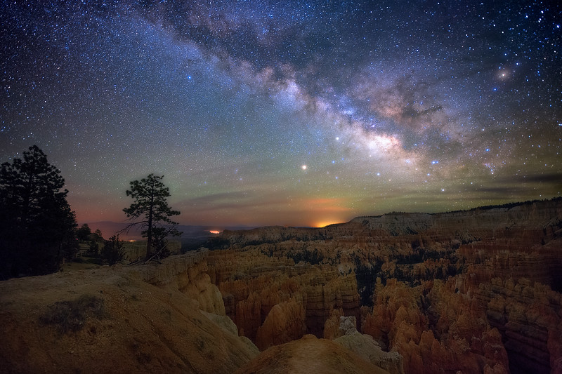 Milky Way over Sunset Point Bryce Canyon