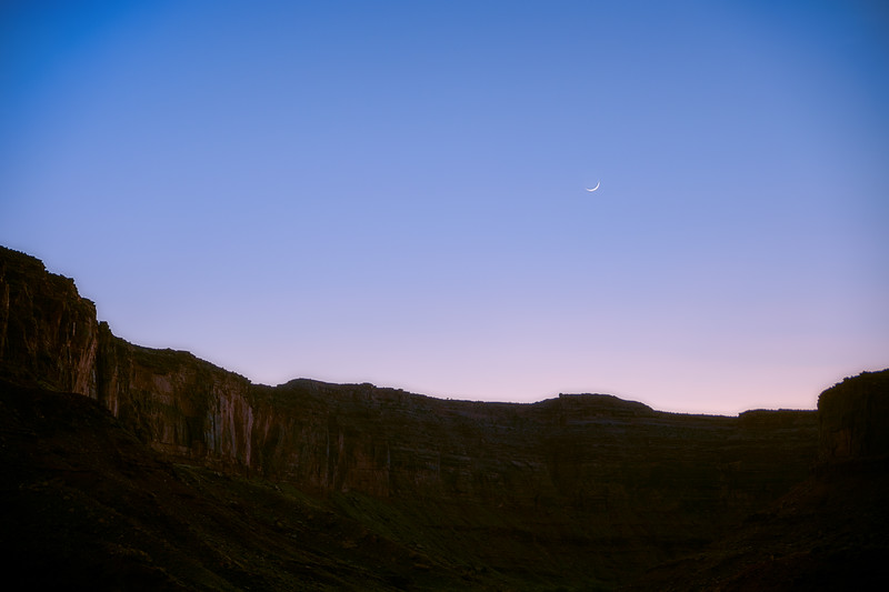 Crescent Moon over Southern Utah