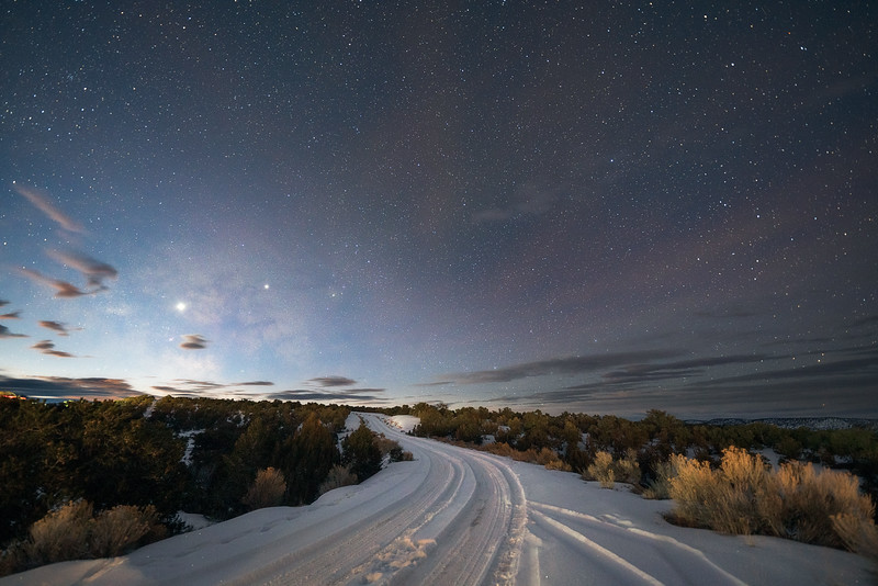 Snowy Path before Dawn
