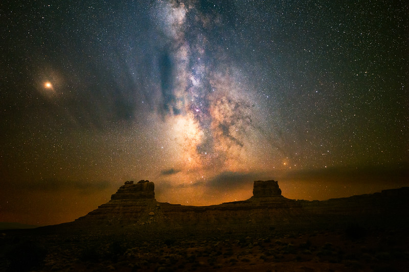 Valley of the Gods at Night
