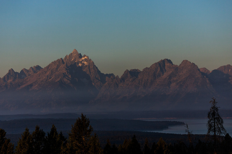 Looking out at the tetons from Signal Mountain