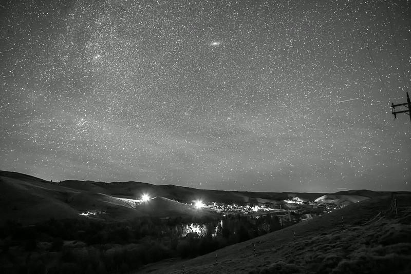Night Sky Over Atlantic City Wyoming