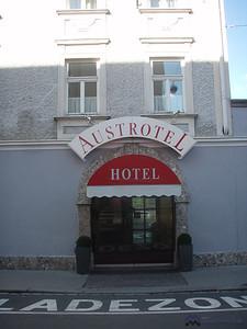Austrotel Hotel where we stayed in Salzburg
