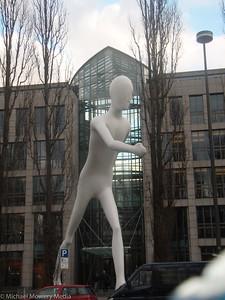 Walking man in Munich
