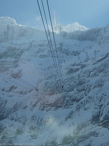 On the way up to the top of Santis