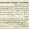 West Genoa Cemetary Association bill. (Photo ID: 50408)