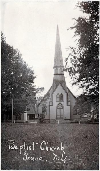 Genoa Baptist Church on the West side of Academy Street. (Photo ID: 27941)