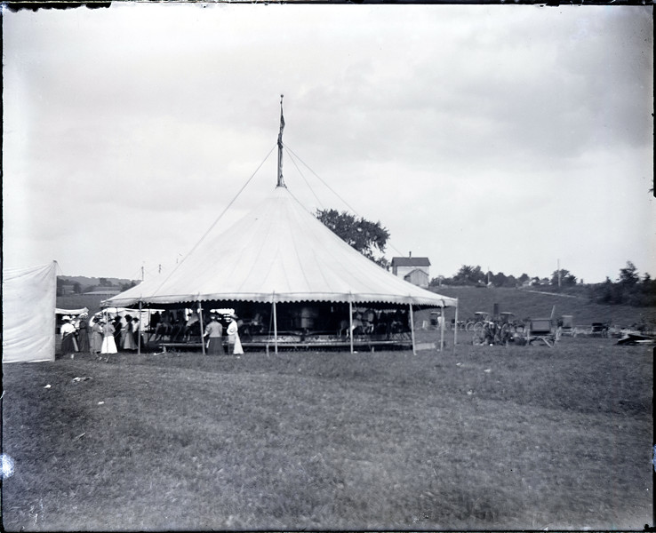 Fairgrounds at the end of Maple Street, Genoa, NY. (Photo ID: 38616)
