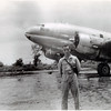 "1944. The Hump Pilot Ted Spiero ready to leave on a mission. ""That Airplane is my Baby"". (Photo ID: 30626)"