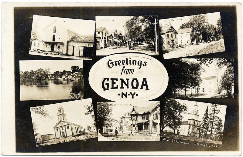 Greetings from Genoa card; various scenes. (Photo ID: 27916)