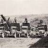 1931 road work in Little Hollow looking East.  Men are Glen Brands, Sal Falk, Geo Fenner and Walt Potter. (Photo ID: 28608)