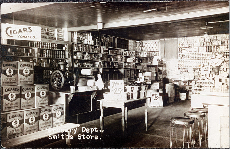 Grocery Dept. Smith's Store Genoa. (Photo ID: 30920)