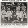 Genoa's Baseball team in 1891. Southern Cayuga Tribune, May 5th, 1939. (Photo ID: 42954)