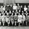 Genoa School. First Row: Ruth Baildon, Vivian Parmley, Elizabeth Kechum, June Bouck, Norma VanBenschoten, Virginia Ponton, ?, Susanne Mott, Ada Armstrong. Second Row: Jerry Bouton, Richard Dean, Howard Grobenly, William Grant, Ben Arnold Jr., Claire Hagin, Robert Ladd, Robert Abbott, George Signor, Alfred Crouch. Third Row: James Reeves, Harold Bothwell, ?, LaVerne McKane, Jimmy Marks, Warren Mastin Jr., ?, ?, ?, Russell Franklin. (Photo ID: 45234)