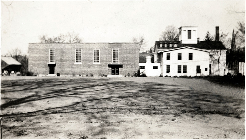 The back of Genoa School. (Photo ID: 30916)
