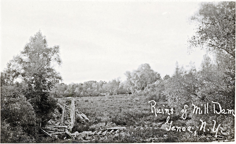 Ruins of Mill dam, Genoa, NY. (1922?) (Photo ID: 27928)