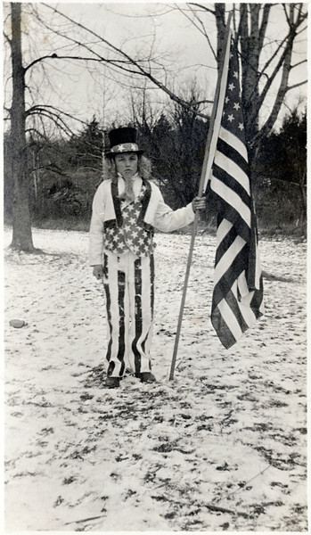 Lester Sill as Uncle Sam at Forks of Creek School. (Photo ID: 29645)