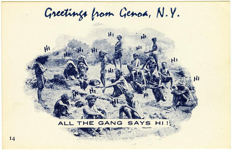 Greetings from Genoa, NY. All the gang says hi! (Photo ID: 50483 f)
