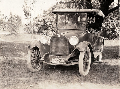 Ford family car - family lived 1/2 mile West of King Ferry. (1920 license plate) (Photo ID: 28592)