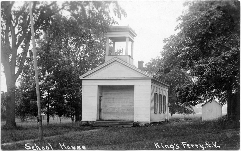 School House on the West side of the Presbyterian Church in King Ferry, NY. (Photo ID: 29048)