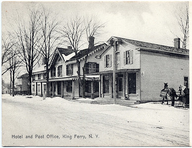 Hotel and Post Office located on north west corner