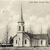 Saint Mary's Church, King Ferry, NY with horse shed to the west. (Photo ID: 29339)