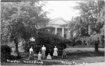 The Atwater homestead, just above the lake in King Ferry, NY. Now owned by Bruce and Carin Kopp, King Ferry, NY. (Photo ID: 28054).This photo was taken about 1901.
