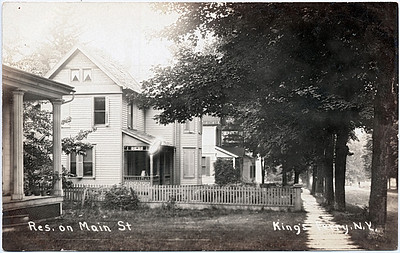 King Ferry Res. on Main St. looking West (2nd house is Lippincott's)