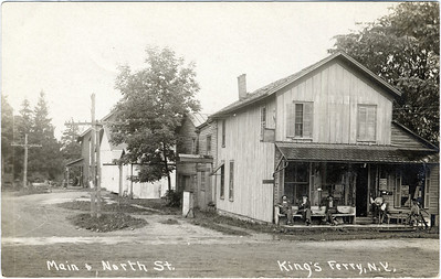Corner of Main Street and North Street, King Ferry, NY (currently on the corner of Rt 90 and 34b). Peckham's hardware store. (Photo ID: 28055)