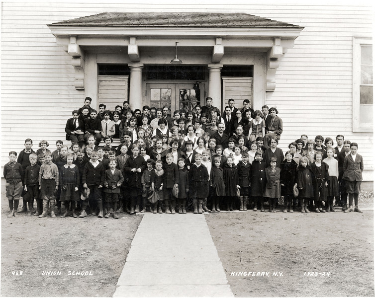 Union School, King Ferry, NY. 1923 - 1924. (Photo ID: 41797)