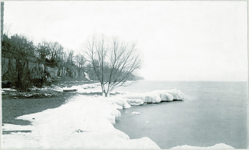 Ice South of the dock in King Ferry, 1888. Photo by M. R. Coleman, Amataur Photographer, Kidder's Ferry, NY. (Photo ID: 34507)