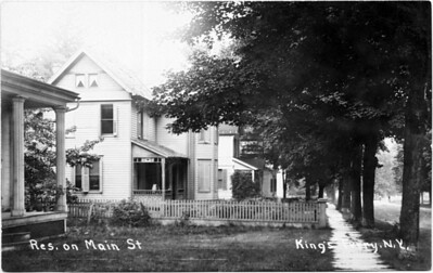 Looking West, Main Street, King Ferry, NY.  Second house is Lippincott's. (Photo ID: 28030)